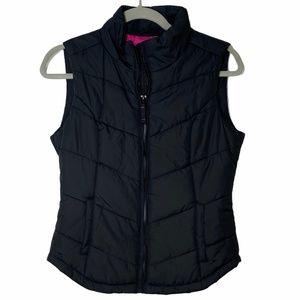 Aeropostale black puffer vest - size S/P